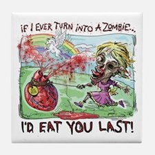 Be Mine Zombie Girl Tile Coaster