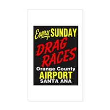 Santa Ana Drags Rectangle Decal