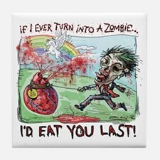 Be Mine Zombie Boy Tile Coaster