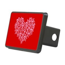 Pink Red Skull Heart Hitch Cover