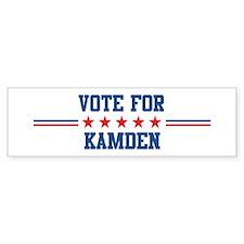 Vote for KAMDEN Bumper Bumper Sticker