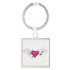 My Sweet Angel Lizbeth Square Keychain