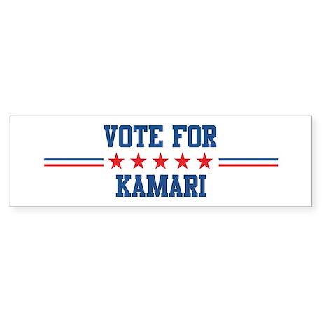 Vote for KAMARI Bumper Sticker