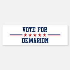Vote for DEMARION Bumper Bumper Bumper Sticker