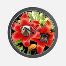 Lily-Brussels Griffons Wall Clock