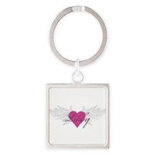 My Sweet Angel Libby Square Keychain