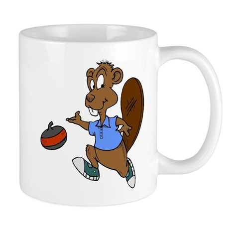 """Curling beaver"" Mug"
