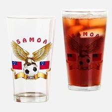 Samoa Football Design Drinking Glass
