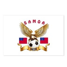 Samoa Football Design Postcards (Package of 8)
