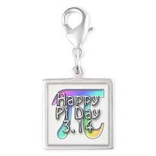 Pi Day - 3.14 Silver Square Charm