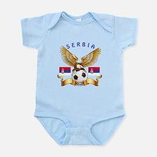 Serbia Football Design Infant Bodysuit