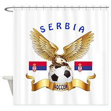 Serbia Football Design Shower Curtain