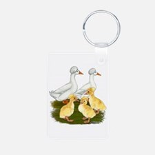 Crested Duck Family Keychains