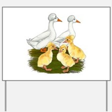 Crested Duck Family Yard Sign