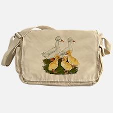 Crested Duck Family Messenger Bag