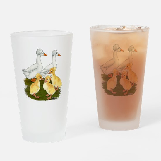 Crested Duck Family Drinking Glass