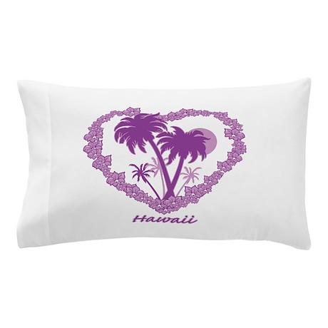 Hawaiian Palm Tree Hearts Pillow Case