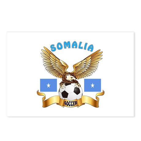 Somalia Football Design Postcards (Package of 8)