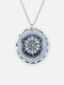 Yin Yang Lotus Necklace Circle Charm