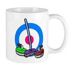 """Curling Rocks and Broom"" Mug"