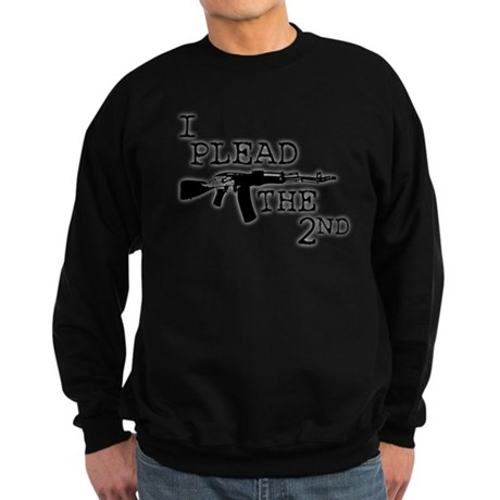 I plead the 2nd. Sweatshirt (dark)