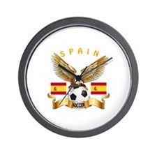 Spain Football Design Wall Clock