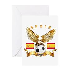 Spain Football Design Greeting Card