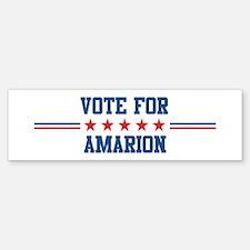Vote for AMARION Bumper Bumper Bumper Sticker