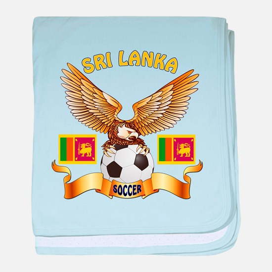 Sri Lanka Football Design baby blanket