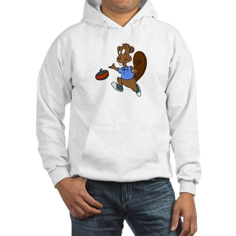 """Curling beaver"" Hooded Sweatshirt"