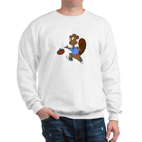 """Curling beaver"" Sweatshirt"