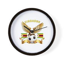 Zimbabwe Football Design Wall Clock