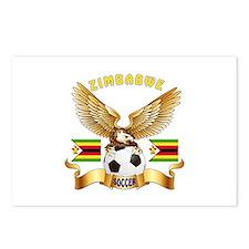 Zimbabwe Football Design Postcards (Package of 8)