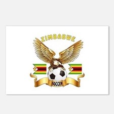 Zimbabwe Football Design Postcards (Package of 8)
