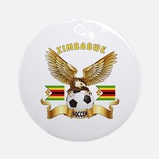 Zimbabwe Football Design Ornament (Round)