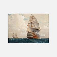 Ship at Sea 5'x7'Area Rug