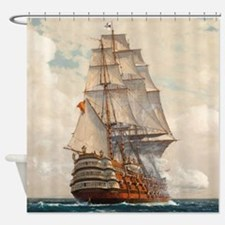 Ship at Sea Shower Curtain