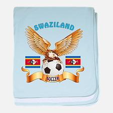 Swaziland Football Design baby blanket