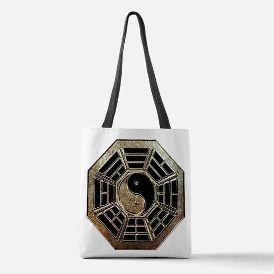 Yin Yang Bagua Polyester Tote Bag