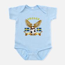 Sweden Football Design Infant Bodysuit