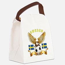 Sweden Football Design Canvas Lunch Bag