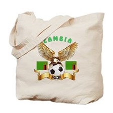 Zambia Football Design Tote Bag