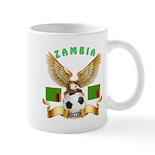 Zambia Football Design Mug