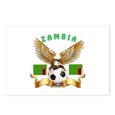 Zambia Football Design Postcards (Package of 8)