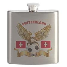 Switzerland Football Design Flask