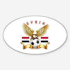 Syria Football Design Sticker (Oval)