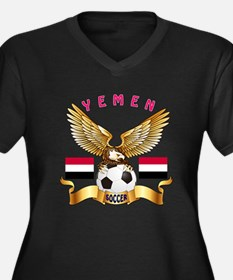 Yemen Football Design Women's Plus Size V-Neck Dar
