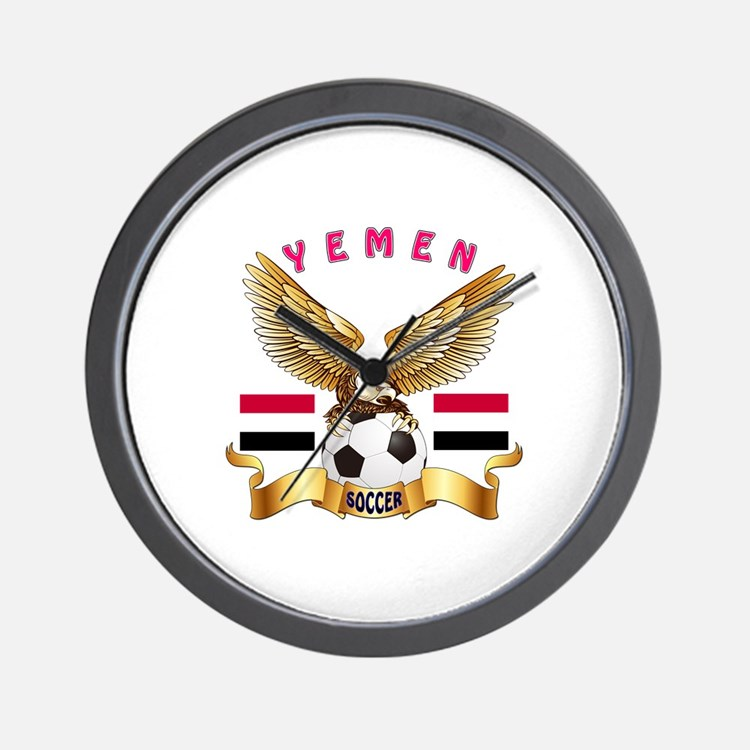 Yemen Football Design Wall Clock