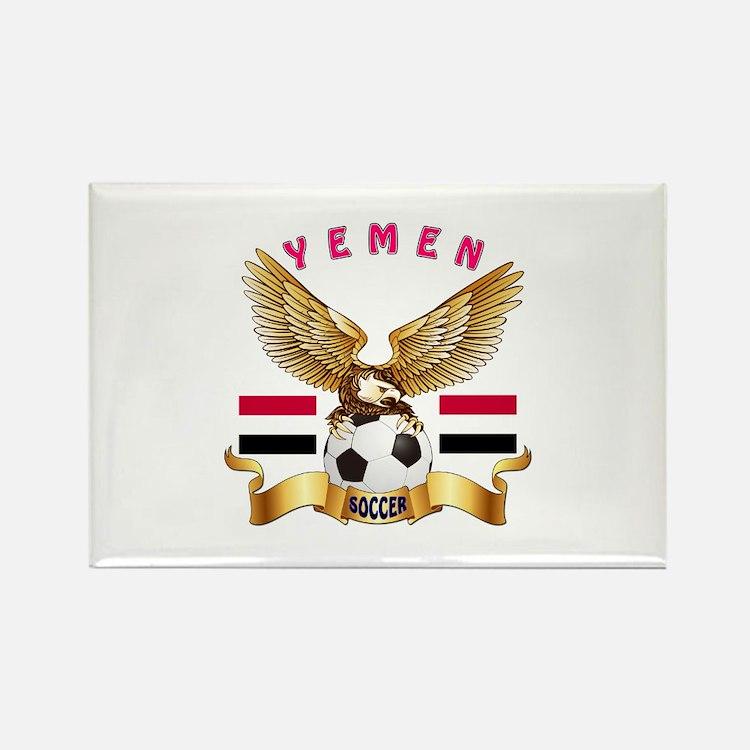 Yemen Football Design Rectangle Magnet