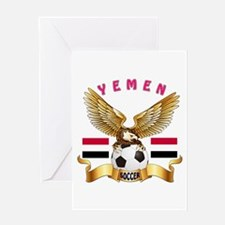 Yemen Football Design Greeting Card